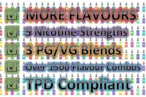 Important updates to our UK E-Liquid - More Flavours and more PG/VG Blends