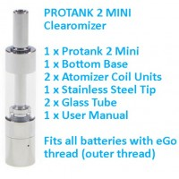 Protank 2 Mini Clearomizer with 2 x Atomizers