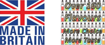 All our e-liquid is made and sourced in the UK