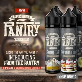 From The Pantry Shortfills - New Dessert Flavours - 50 to 60ml - 0mg, or 3mg