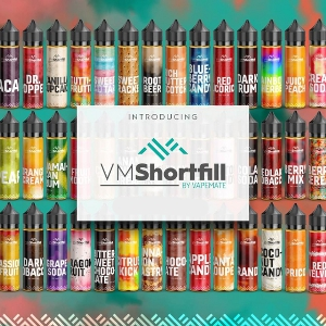 Vapemate Shortfills - 30 Flavours - 60ml - 0mg, 3mg or 6mg