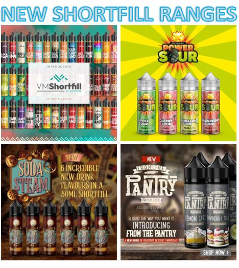 Try our new Shortfill eliquid ranges